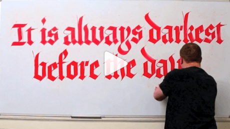 Seb Lester: Kαλλιγραφία που υπνωτίζει (VIDEOS)