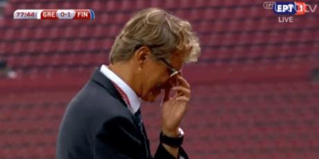 Ο coach της Εθνικής Φινλανδίας γελάει με σουτάρα του Σάμαρη (VIDEO)