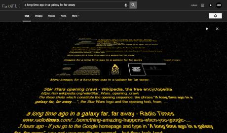 Ένας μήνας έμεινε: Η Google φτιάχνει μια επικότατη αναζήτηση για το Star Wars (PHOTO)
