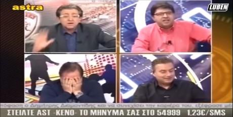 Στιγμές αγνής συναδελφικής αγάπης σε αθλητική εκπομπή στο θεσσαλικό Astra TV [VIDEO]