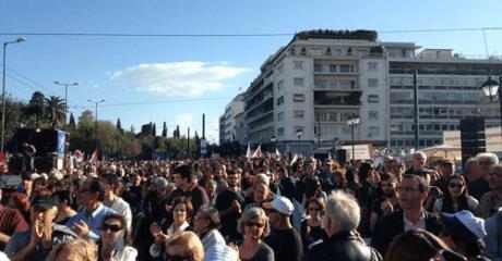 Στο Σύνταγμα έφτασε η πορεία για την ανεργία από την Πάτρα (PHOTO)