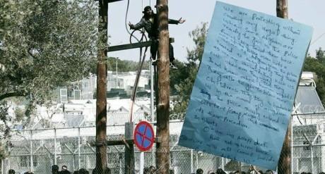Γράμμα-καταγγελία των προσφύγων από το κέντρο κράτησης της Μόριας στη Λέσβο (PHOTO)