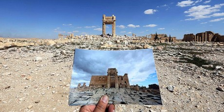 Ο αρχαιολογικός χώρος της Παλμύρας στη Συρία πριν και μετά το πέρασμα των αούγκανων του ISIS (PHOTO)