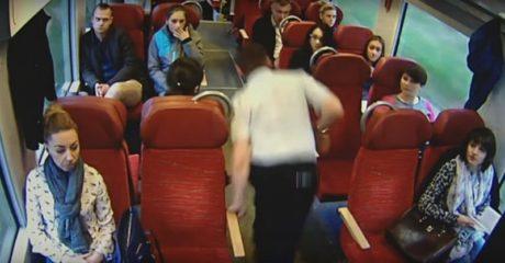 Οδηγός τρένου πρόλαβε μέσα σε 3 δεύτερα να προειδοποιήσει τους επιβάτες ότι θα στουκάρουν (VIDEO)