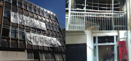 Εμπρηστική επίθεση με γκαζάκια στη στέγη προσφύγων Νοταρά 26, σήμερα τα ξημερώματα
