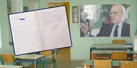 Η 10χρονη Ηλιάνα πήρε το 10 στην έκθεση γράφοντας για τότε με το ΠΑΣΟΚ που τρώγαμε μπριζόλες (PHOTO)