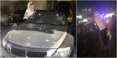 Πήρε φωτιά το αυτοκίνητο της Τζούλιας Αλεξανδράτου επειδή οδηγούσε μόνο με την 1η ταχύτητα (VIDEO)