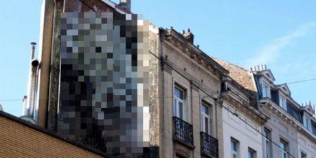 Πέη και αιδοία ξεπροβάλλουν σε ακάλυπτους των Βρυξελλών και κανείς δεν ξέρει ποιος είναι ο καλλιτέχνης (PHOTO)