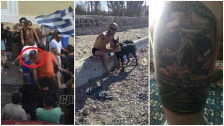 Χρυσαυγίτης με τατουάζ το Άουσβιτς πρωτοπαλίκαρο των «αγανακτισμένων πολιτών» στη Λέσβο (PHOTOS)
