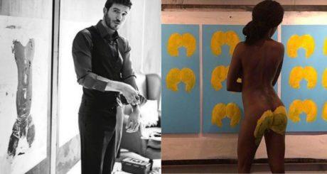 Ένας καλλιτέχνης που δεν κωλώνει: O Χάρης Λίθος χρησιμοποιεί γυναικεία οπίσθια για πινέλο (PHOTOS)