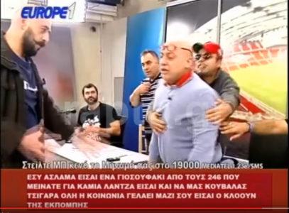 ΠΑΟΚτσής εισβάλλει στο πλατό του Κωστή Ραπτόπουλου γιατί στο τηλέφωνο είχε αθηναϊκούς καλεσμένους [VIDEO]