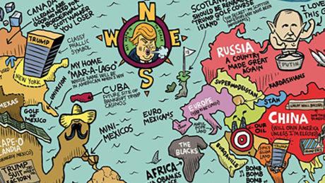 Πως θα ήταν οι χάρτες του κόσμου μέσα από το σπινθηροβόλο βλέμμα του Nτοναλντ Τραμπ