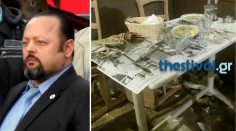 Εντωμεταξύ, θύμα επίθεσης έπεσε χθες και ο Αρτέμης Σώρρας σε πατσατζίδικο στη Θεσσαλονίκη