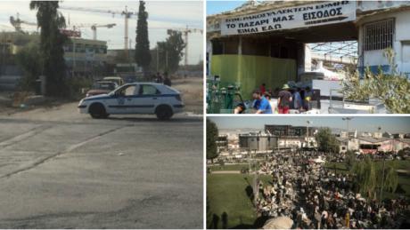 Δήμος Αθηναίων και Περιφέρεια διέλυσαν με μπουλντόζες και ΜΑΤ το παζάρι ρακοσυλλεκτών στον Ελαιώνα