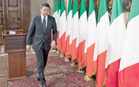 Χωρίς τη σημαία της Ε.Ε. εμφανίστηκε σε διαδικτυακό διάγγελμα ο Ιταλός πρωθυπουργός Ματέο Ρέντσι