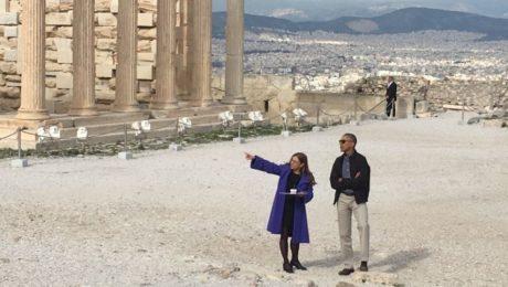 Στην Ακρόπολη βρέθηκε το πρωί ο Μπαράκ Ομπάμα, ελπίζουμε να μην πλήρωσε ακριβά τη γρανίτα (PHOTO)