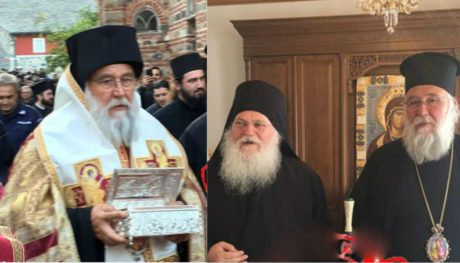 """Τρέμουν οι κατσαρίδες στο Άγιο Όρος: Η """"ιερή παντούφλα"""" του Άγιου Σπυρίδωνα επισκέφτηκε τη μονή Βατοπεδίου (PHOTO)"""