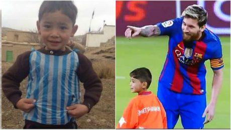 Ο 5χρονος Αφγανός που έφτιαξε τη φανέλα του με πλαστική σακούλα συνάντησε τελικά το Λιονέλ Μέσι (VIDEO)