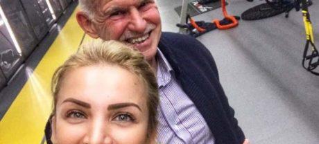 O Γυπαετός Γιώργος Παπανδρέου βγήκε και σε selfie με την Κατερίνα Καινούργιου στο γυμναστήριο