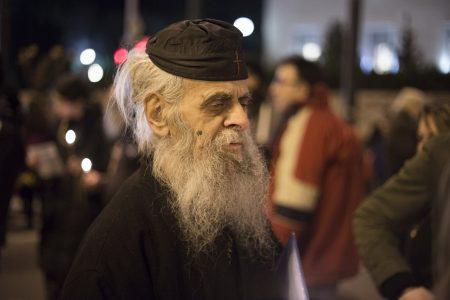 14 φωτογραφίες από τη χθεσινή χριστιανομπαχαλική φιέστα αλληλεγγύης στη μονή Εσφιγμένου