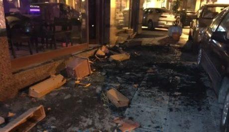 Θαμώνες τα έσπασαν κυριολεκτικά όλα σε μπαράκι στην Θεσσαλονίκη
