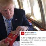 Χάκερς τουιτάρουν από το λογαριασμό των McDonalds για τα μικρά χεράκια του Donald Trump