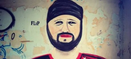 Κάποιος Μέγας Καήλας έφτιαξε γκράφιτι του Μάνατζερ Ράγκμπι στον Πειραιά