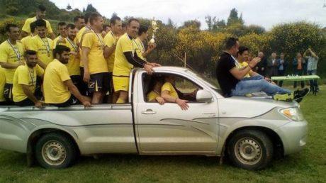 Ομάδα από τον Έβρο κάνει υπέροχο βαλκανικό πανηγυρισμό πάνω σε Ντάτσουν για το πρωτάθλημα που κέρδισε (VIDEO)