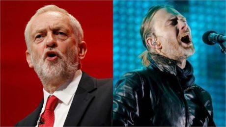 """""""Τζέρεμι Κόρμπιν"""" τραγουδούσε το κοινό των Radiohead στη χτεσινή τους εμφάνιση στο Glastonbury Festival"""