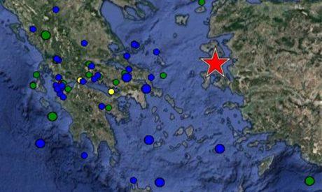 Ισχυρός σεισμός 6,2 ρίχτερ ανάμεσα στην Χίο και την Λέσβο