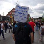 Γριές στο G20: Οπαδοί του Ηρακλή διαδήλωσαν στο Αμβούργο με πανό κατά του Τραμπ