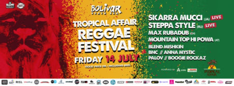 Tropical Affair Reggae Festival την Παρασκευή στο Bolivar Beach Bar