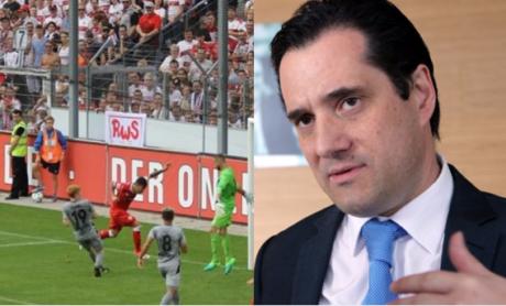 H ομάδα ποδοσφαίρου της Στουτγκάρδης δήλωσε πως σκόραρε ο νέος τους παίχτης Άδωνις Γεωργιάδης