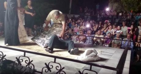 Εντωμεταξύ, θαυματουργή εικόνα χτυπιέται μόνη της σε πανηγύρι στην Καβάλα
