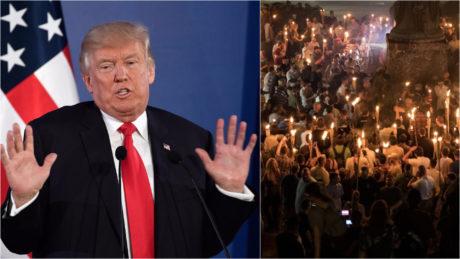 Προς έκπληξη όλων ο πρόεδρος Τραμπ άλλαξε γνώμη για τους φασίστες στη Βιρτζίνια