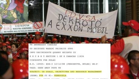 Διαρροή από το WikiLeaks δείχνει ότι ο στόχος των ΗΠΑ στη Βενεζουέλα ήταν και είναι το πετρέλαιο