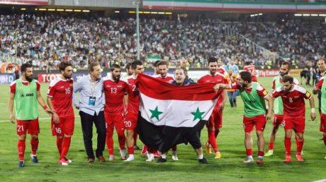 Η Συρία πανηγυρίζει την πρόκριση στα προκριματικά του Μουντιάλ στο 3ο λεπτό των καθυστερήσεων