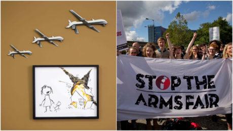 O Banksy πούλησε έργο του σε δημοπρασία και χάρισε τα έσοδα σε αντιπολεμικές οργανώσεις