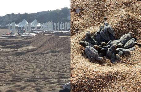 Ισοπέδωσαν προστατευόμενη παραλία στην Κύπρο με καρέτα-καρέτα για να την κάνουν πίστα γάμου