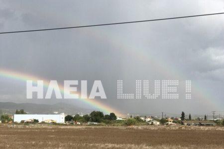 ΕΚΤΑΚΤΟ: Ένα διπλό ουράνιο τόξο εμφανίστηκε στη γη της επαγγελίας, το νομό Ηλείας