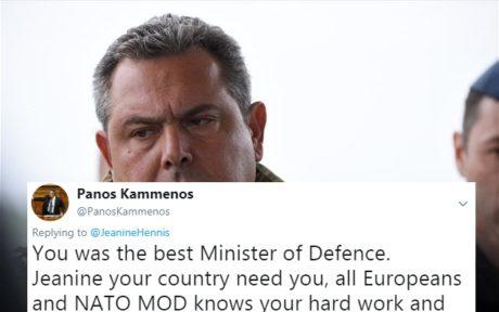 Τα Αγγλικά στο μήνυμα Καμμένου προς την υπουργό Άμυνας της Ολλανδίας άνετα ξεκινάνε πόλεμο