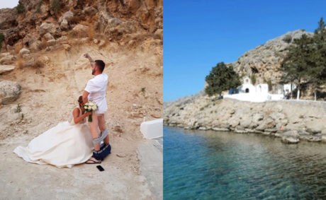 Τέλος οι πολιτικοί γάμοι στο μοναστήρι του Αγ. Παύλου στη Ρόδο μετά τις ρομαντικές φωτογραφίες Βρετανών