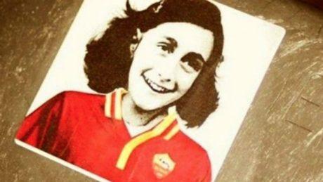 Οι γνωστοί no politica οπαδοί της Λάτσιο άφησαν στο πέταλο εικόνα της Άννας Φρανκ με φανέλα της Ρόμα