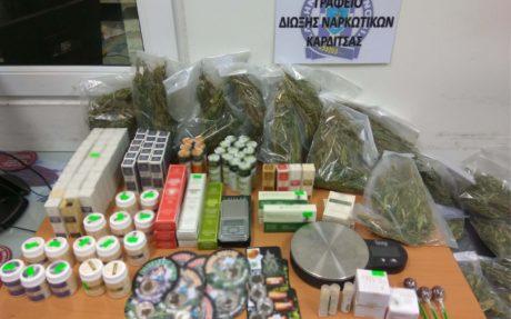 Καρδίτσα: Συνελήφθησαν για πώληση σκευασμάτων κάνναβης δύο ιδιοκτήτες καταστήματος φυτικών ειδών