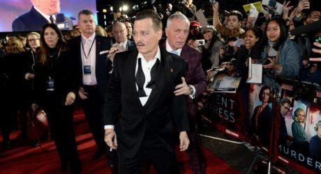 Μπαούλο από τα ξύδια εμφανίστηκε ο Τζόνι Ντεπ στην πρεμιέρα της νέας του ταινίας