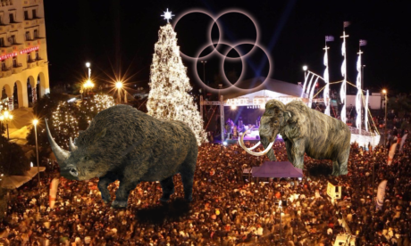 Με μαμούθ, τριχωτούς ρινόκερους και φωτιζόμενους κύκλους θα στολιστεί η Θεσσαλονίκη για τις γιορτές