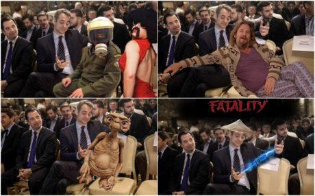 O Κυριάκος Μητσοτάκης αγκαλιάζει την καρέκλα: Το νέο Meme
