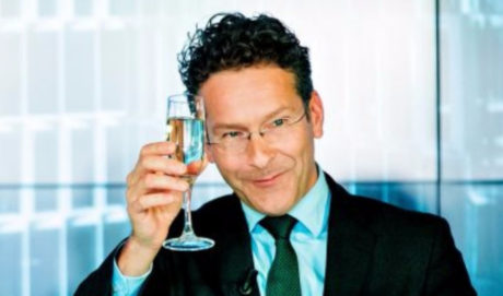 Ένα μπουκάλι ούζο είπε ότι θα κατεβάσει ο Ντάισελμπλουμ ότ-αν η Ελλάδα βγει απ' το μηνμόνιο