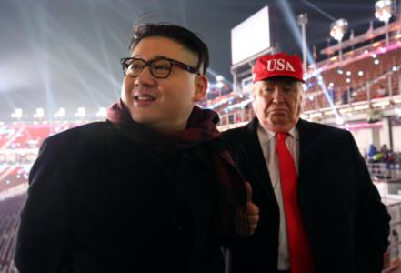 Σωσίες του Τραμπ και του Κιμ έφαγαν πόρτα απ' την έναρξη των χειμερινών ολυμπιακών αγώνων