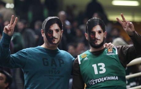 «Je suis Yianakopoulos»: Παναθηναϊκοί φόρεσαν μάσκες με τη φατσούλα του ιδιοκτήτη της ΚΑΕ